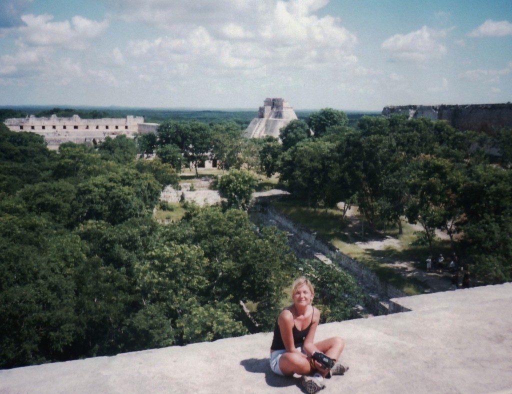 Uxmal..in cima alla piramide maggiore...