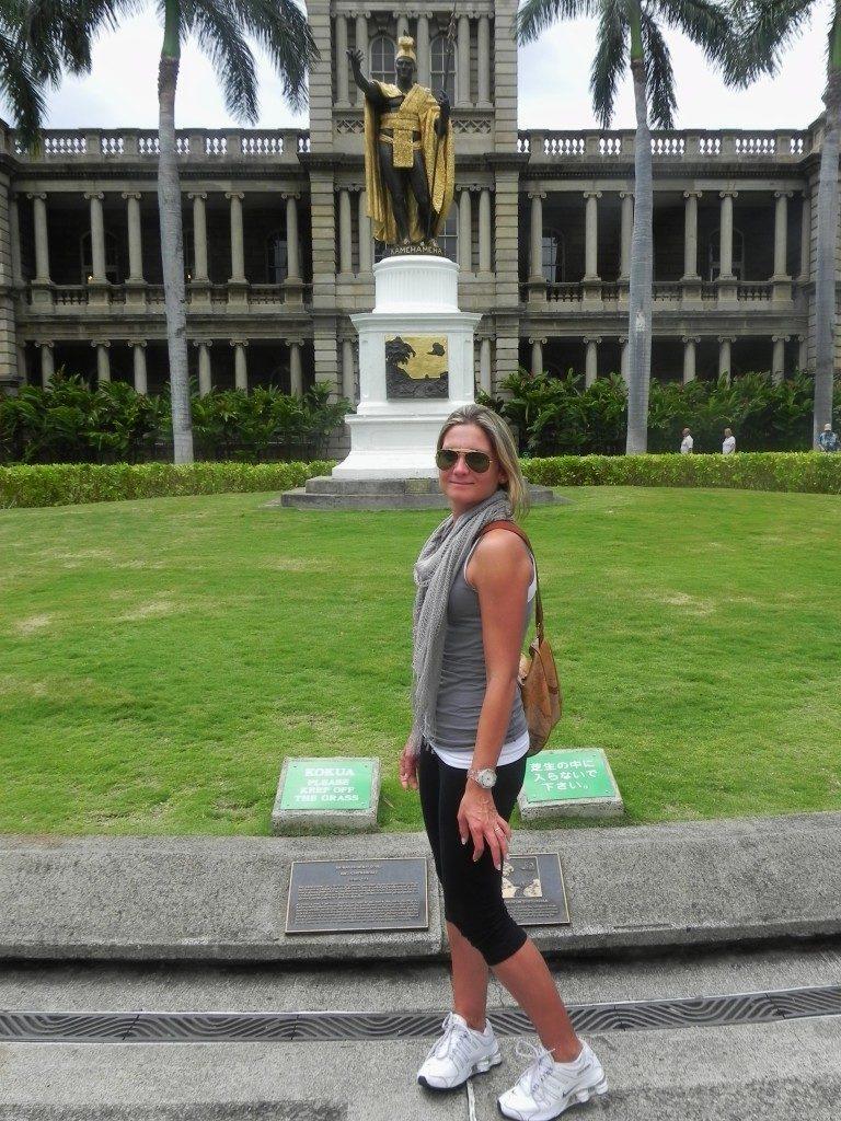 Honolulu,la statua del grande re Hawaiano