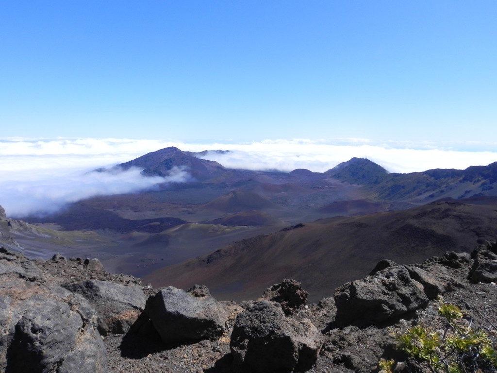In cima al vulcano di Maui