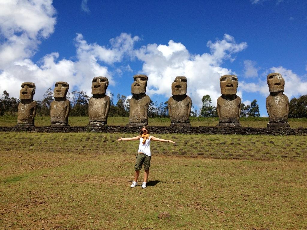 I sette Moai di Ahu Akivi, Isola di Pasqua, Cile