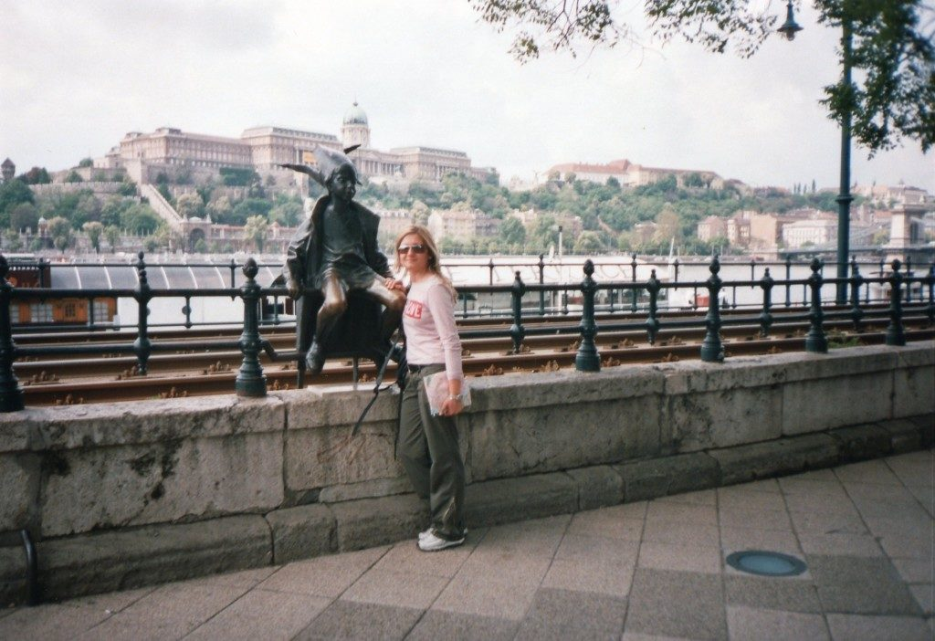 A Budapest...sullo sfondo il palazzo reale