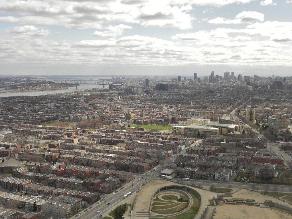 La visuale dall'osservatorio...Montreal ed il San Lorenzo