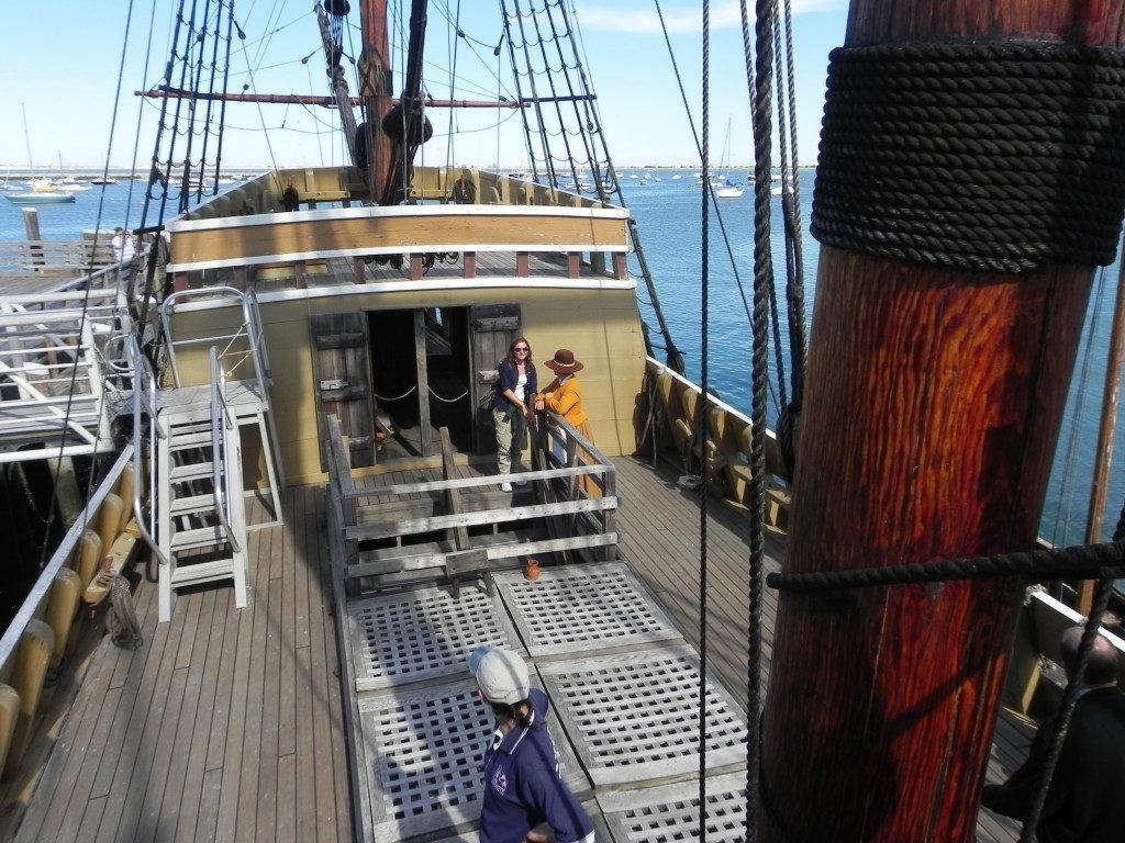 A bordo della Mayflower....