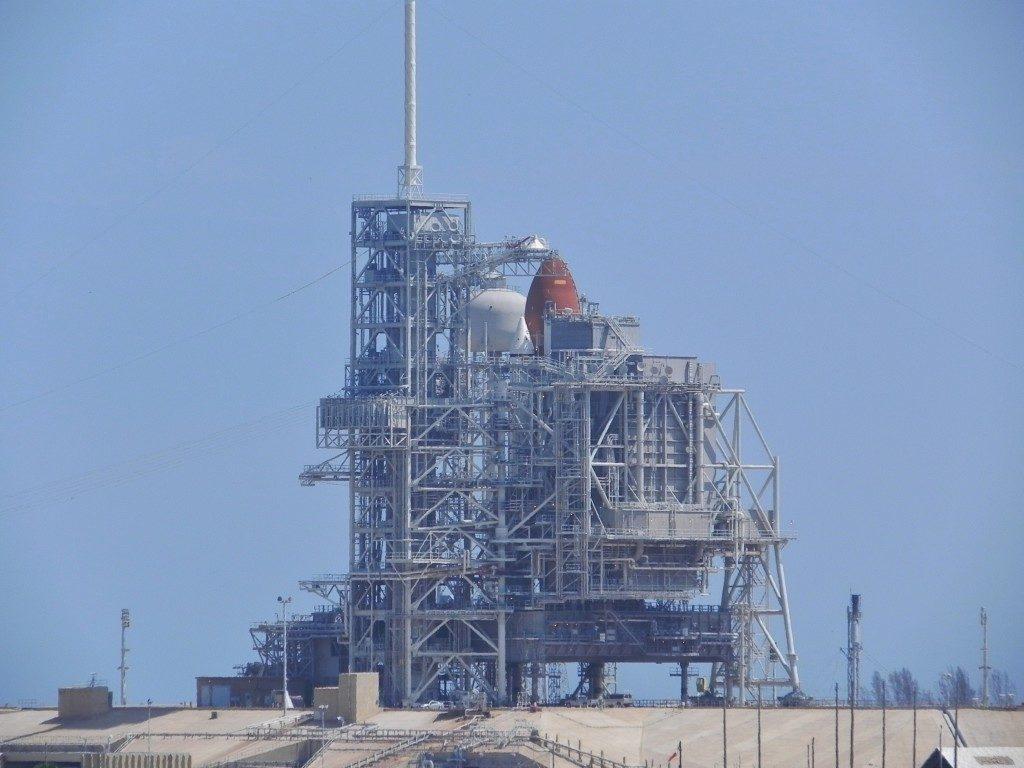 Lo Shuttle, pronto, in rampa di lancio...