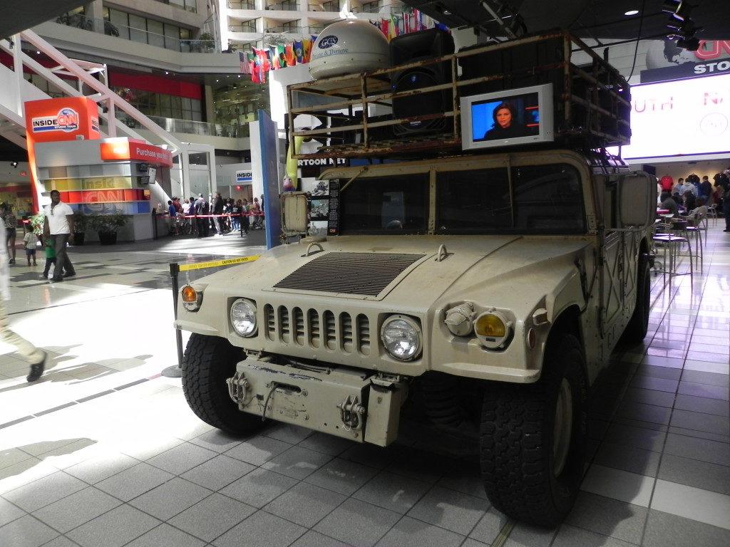 La Jeep usata a Bagdad durante la Guerra del Golfo