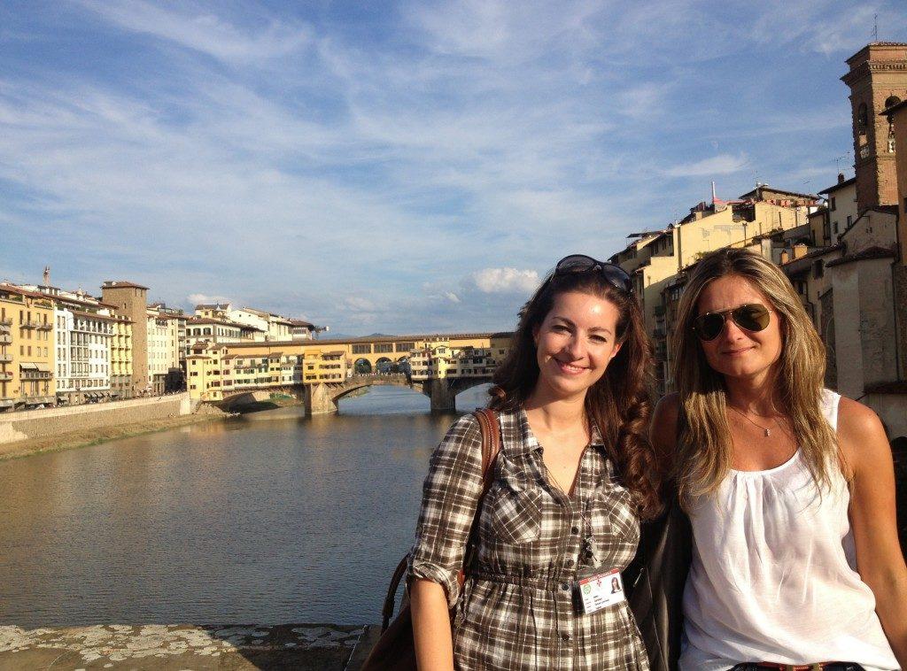 Con la mia bravissima guida su Ponte santa Trinita