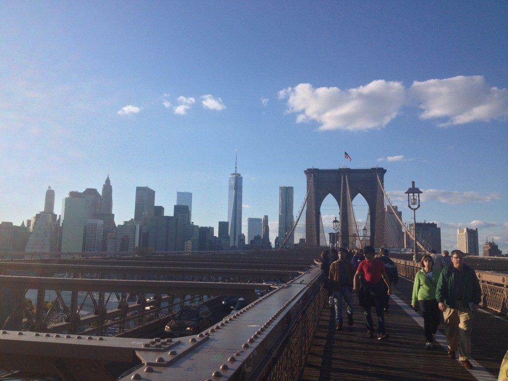New York vista dal Ponte di Brooklyn...