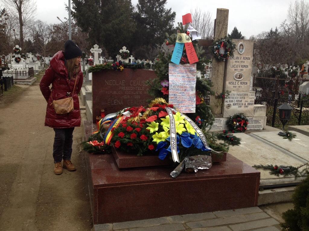 La Tomba di Ceausescu e di sua moglie Elena