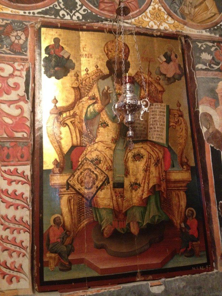 Icone ortodosse all'interno del Monastero