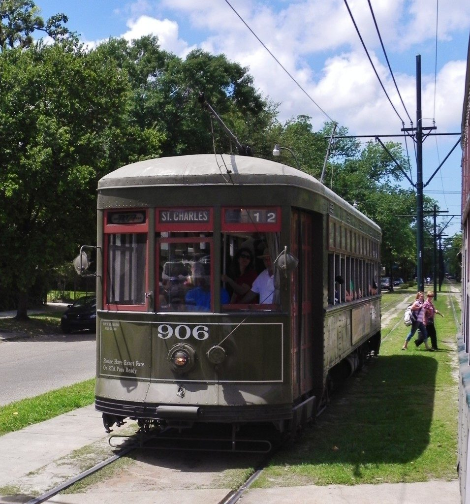the old St. Charles Streetcar