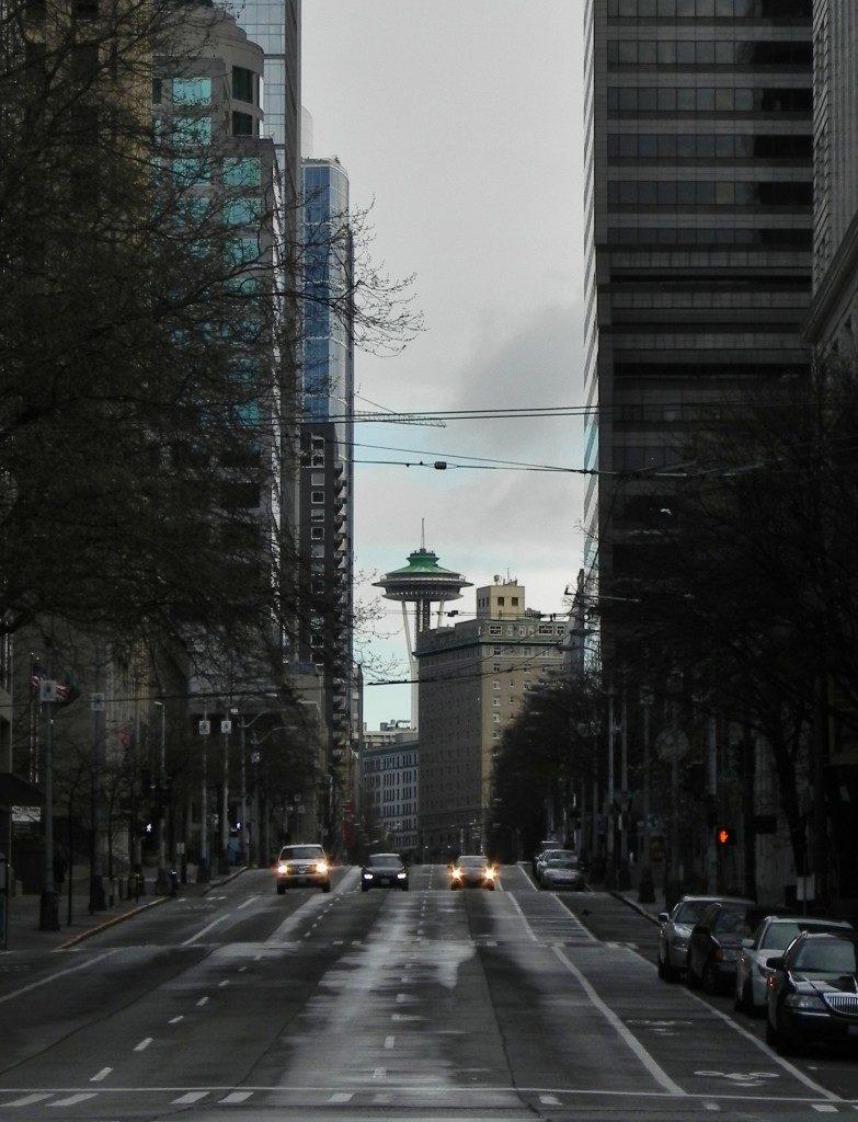 Visitare Seattle: Downtown e lo Space Needle sullo sfondo