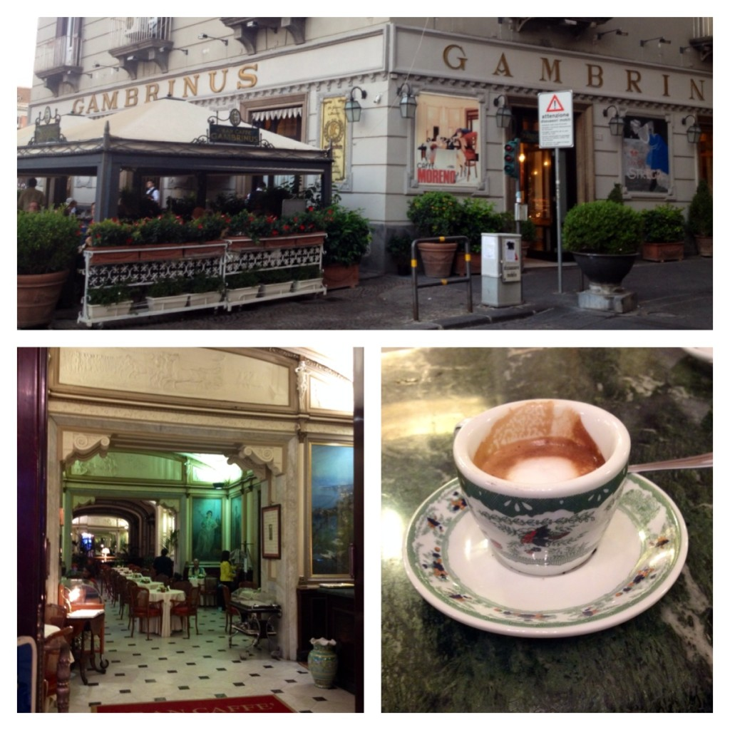 Il caffe' al Gambrinus, una tradizione tutta napoletana!!
