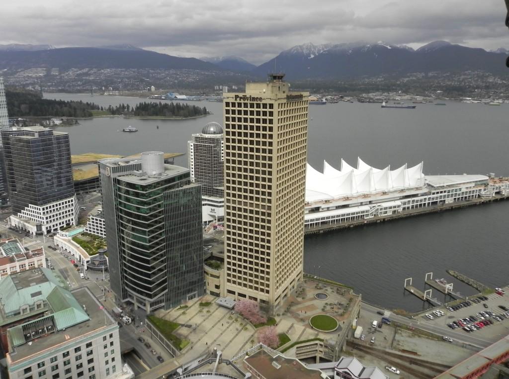 la vista dal Vancouver Lookout