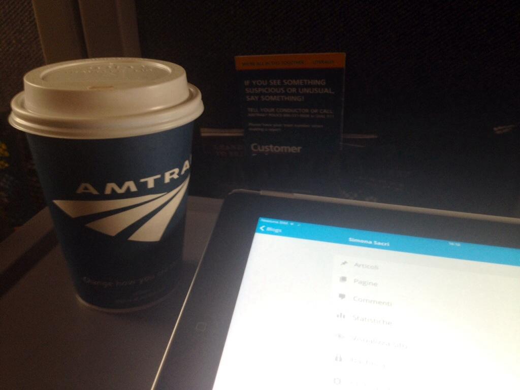 In treno verso Washington