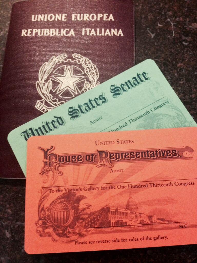 US Capitol... i miei Pass per il Senato e la Camera