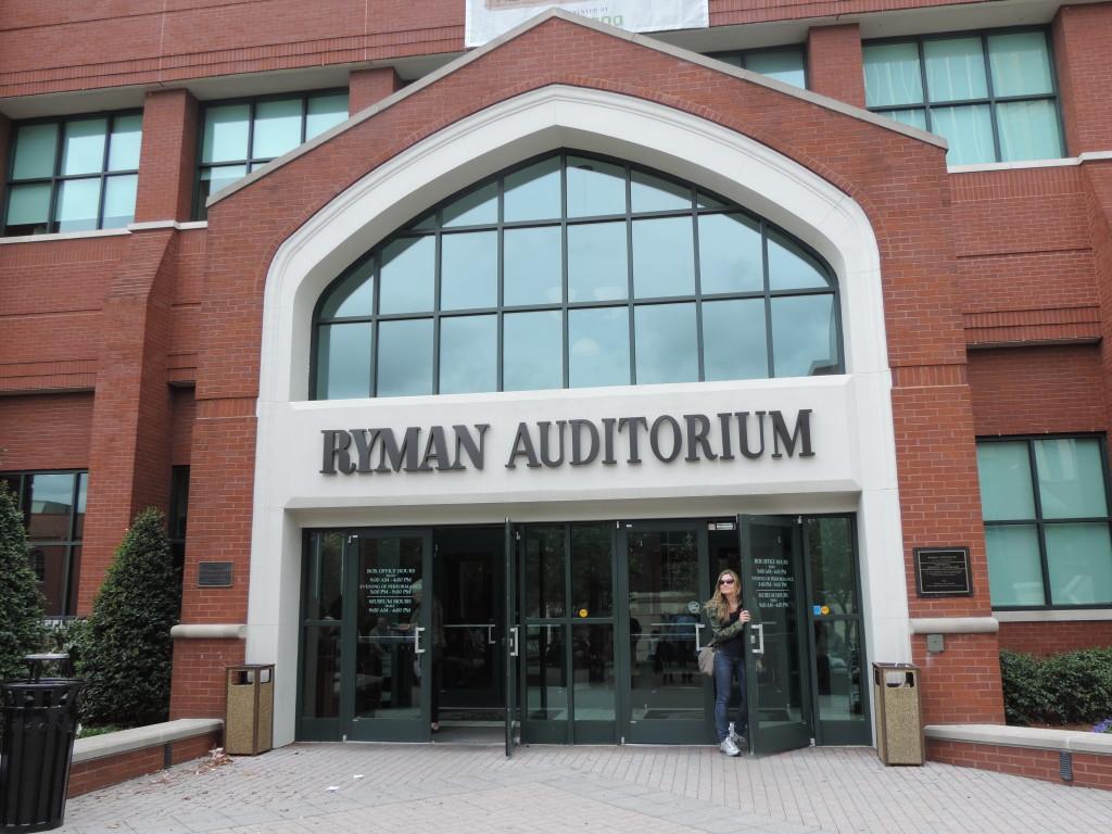 L'ingresso del Ryman Auditorium...