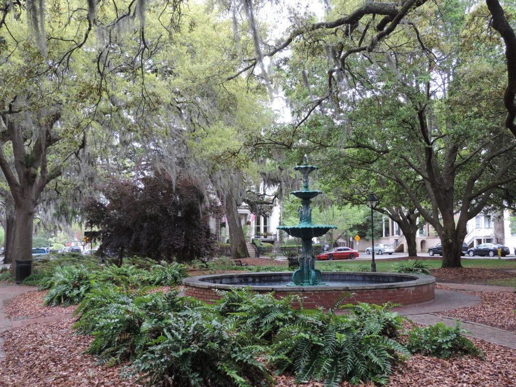 A square in Savannah