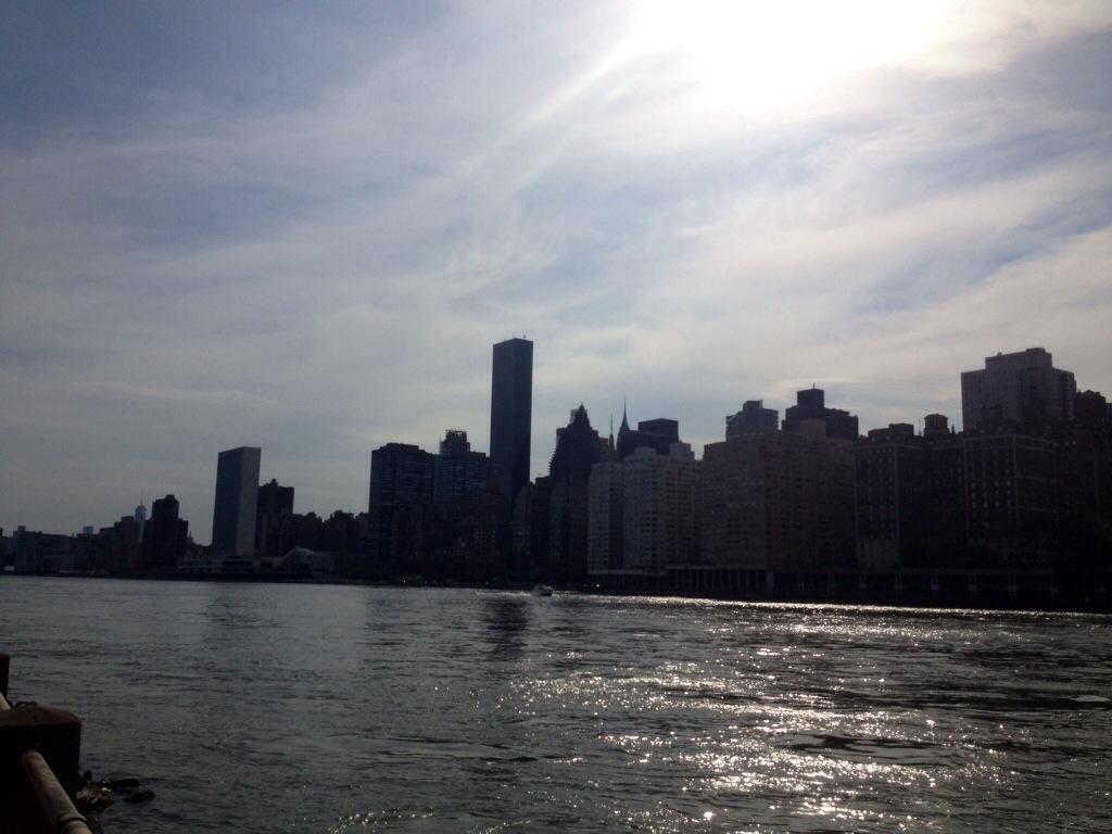 L'East River visto da Roosevelt Island