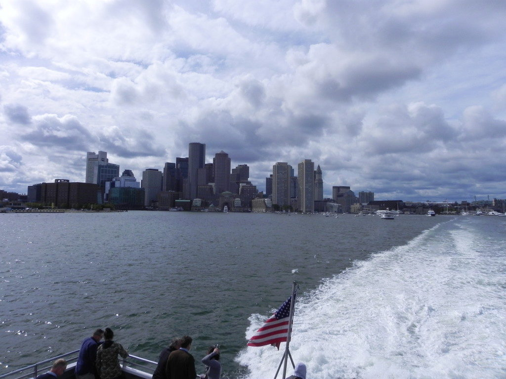 Boston seen from the Massachussetts Bay
