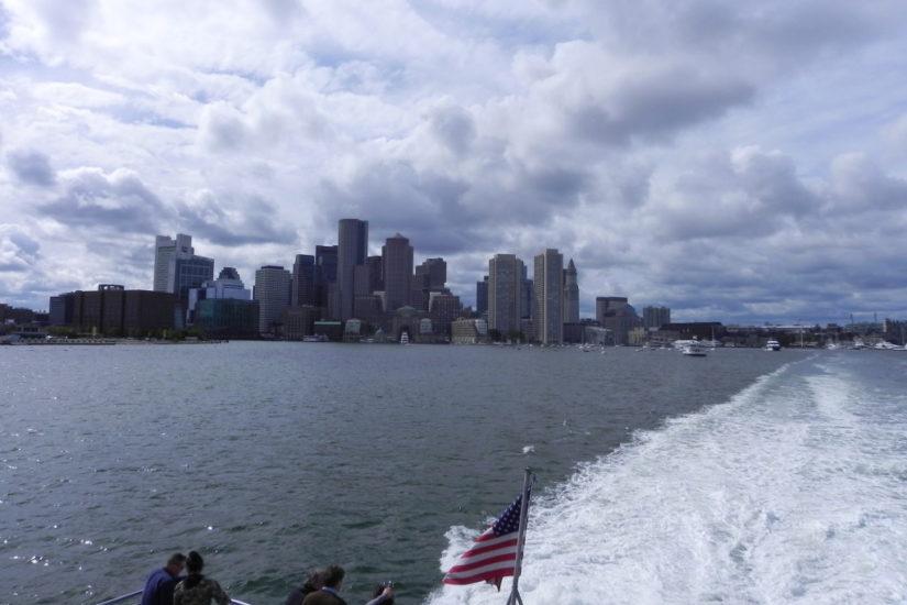 Boston vista dalla Massachusetts Bay