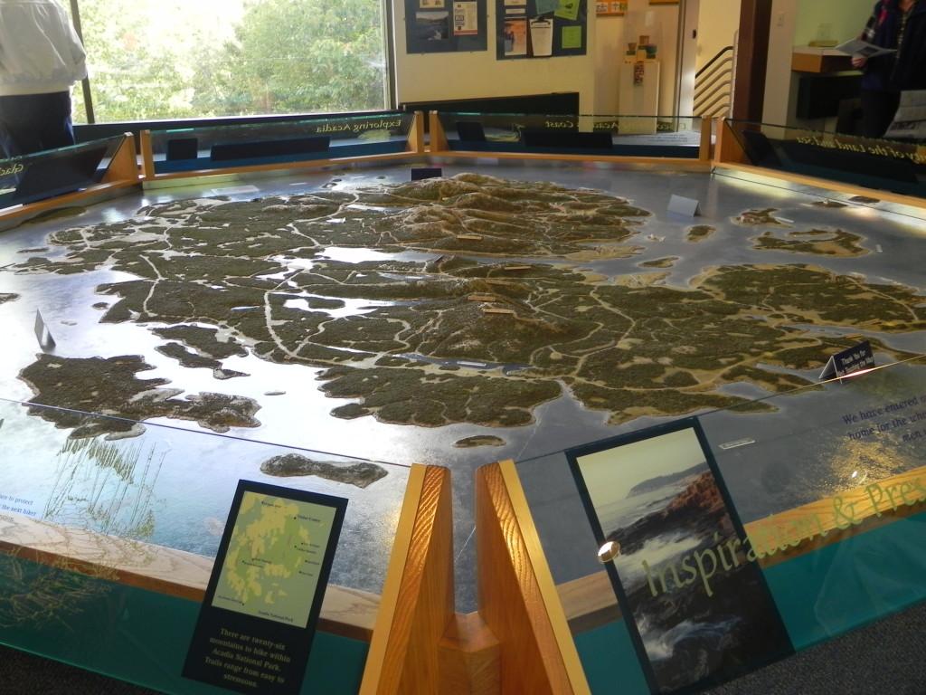 Il plastico del Parco all'interno del Visito Center