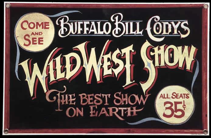Storie e leggende napoletane: Buffalo Bill a Napoli, locandina del Wild West Show