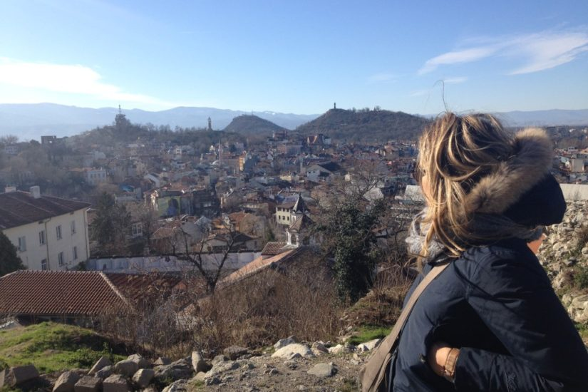 Plovdiv, view from the hill of Nebet Tepe