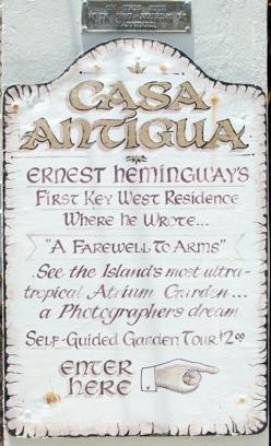Casa Antigua, la prima casa di Hemingway a Key Werst, orari e visite