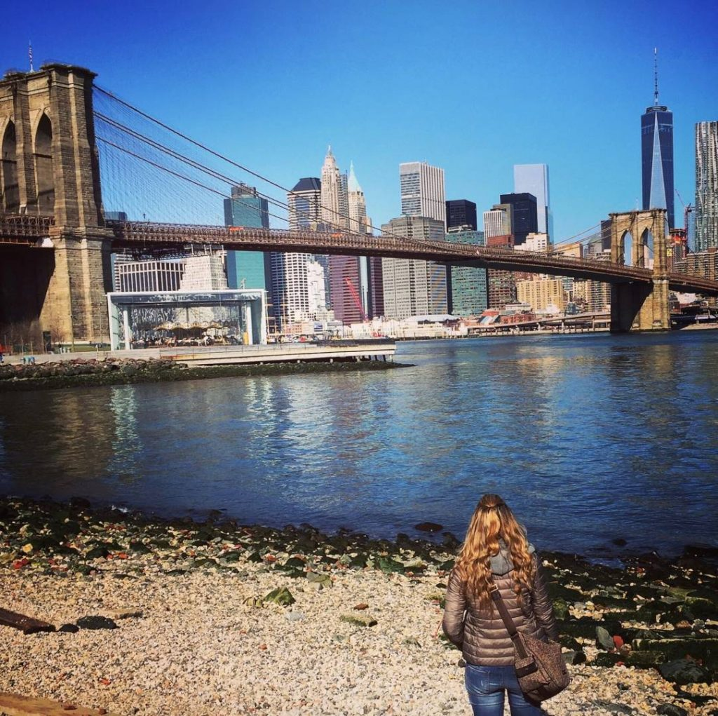 What to see in Brooklyn: view of Lower Manhattan and of the Brooklyn Bridge