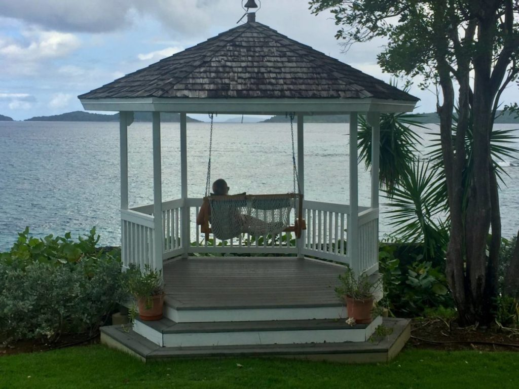 What to see in St. John: terrace with a view of St. John