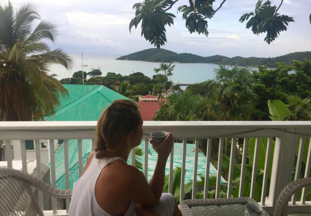 """La mia """"camera con vista"""" all'At Home in The Tropics Inn."""