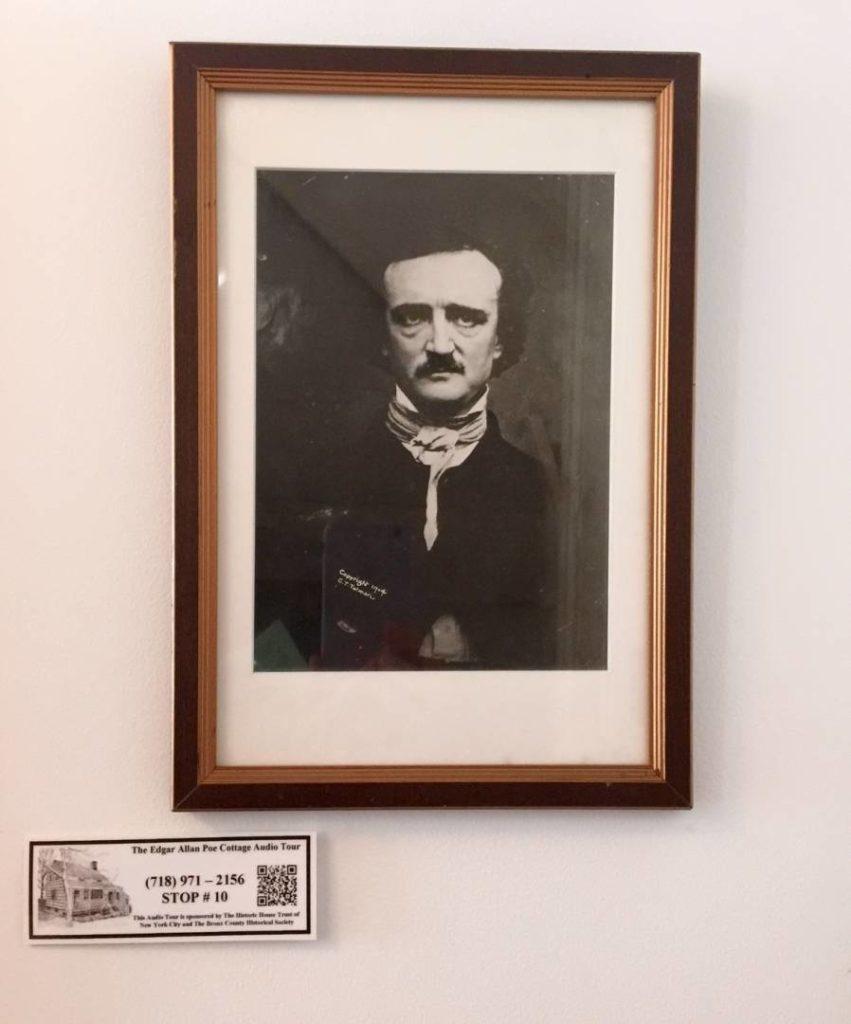 Edgar Allan Poe, his portrait inside the Cottage