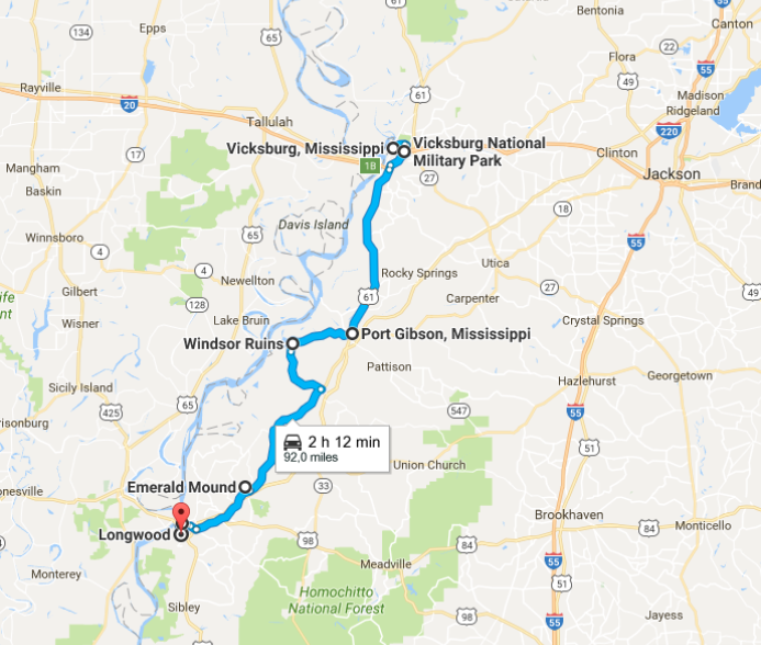 Itineraries in Mississippi: from Vicksburg to Natchez
