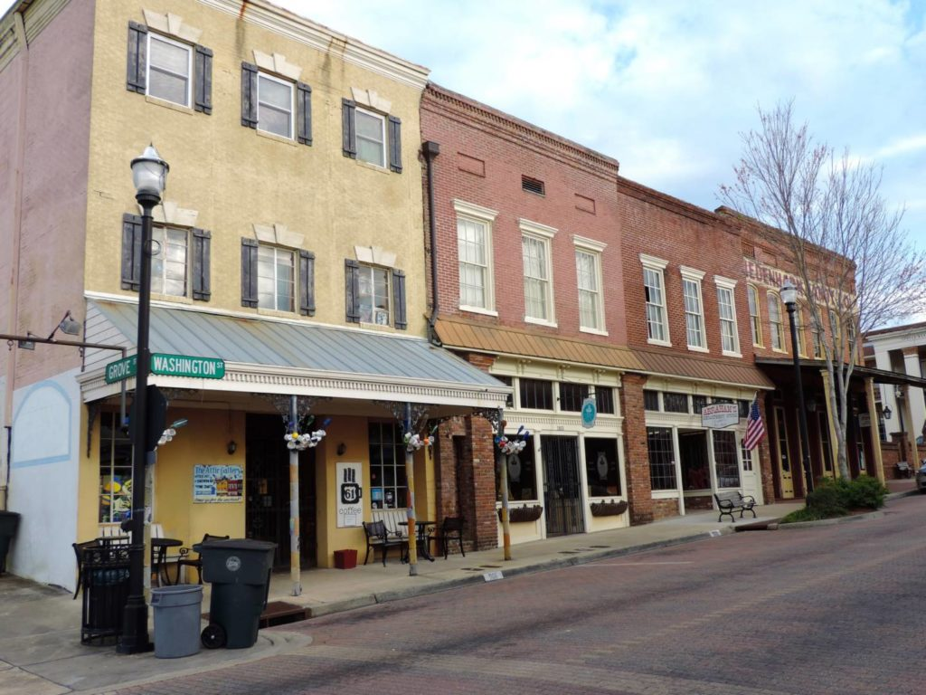 Itineraries in Mississippi: the old downtown of Vicksburg