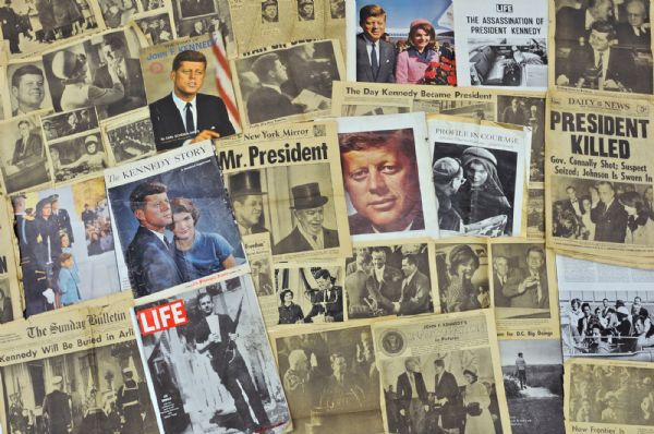 JFK moments and media collage. Photo Credits Republican Herald