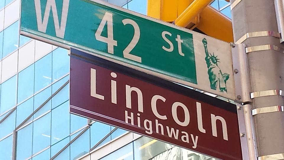 USA on the road: L'inizio della Lincoln Highway, Times Square, Ny