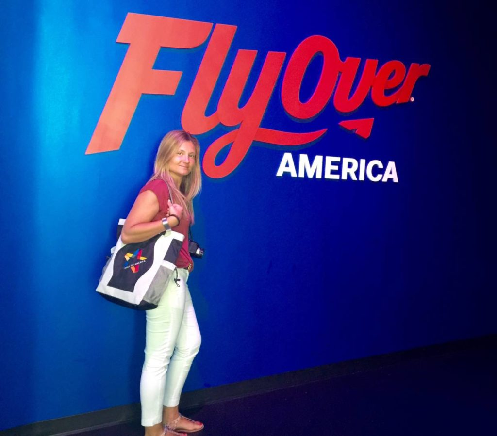 FlyOver America, the entrance