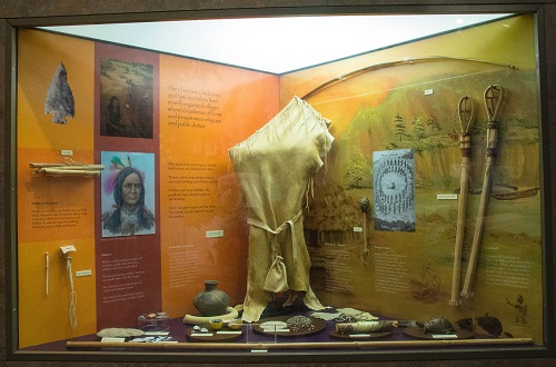 Finds of the Natives Indians in the Visitor Center of the Natchez Trace Parkway
