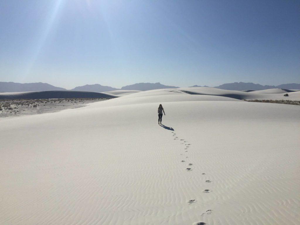 White Sands, impronte