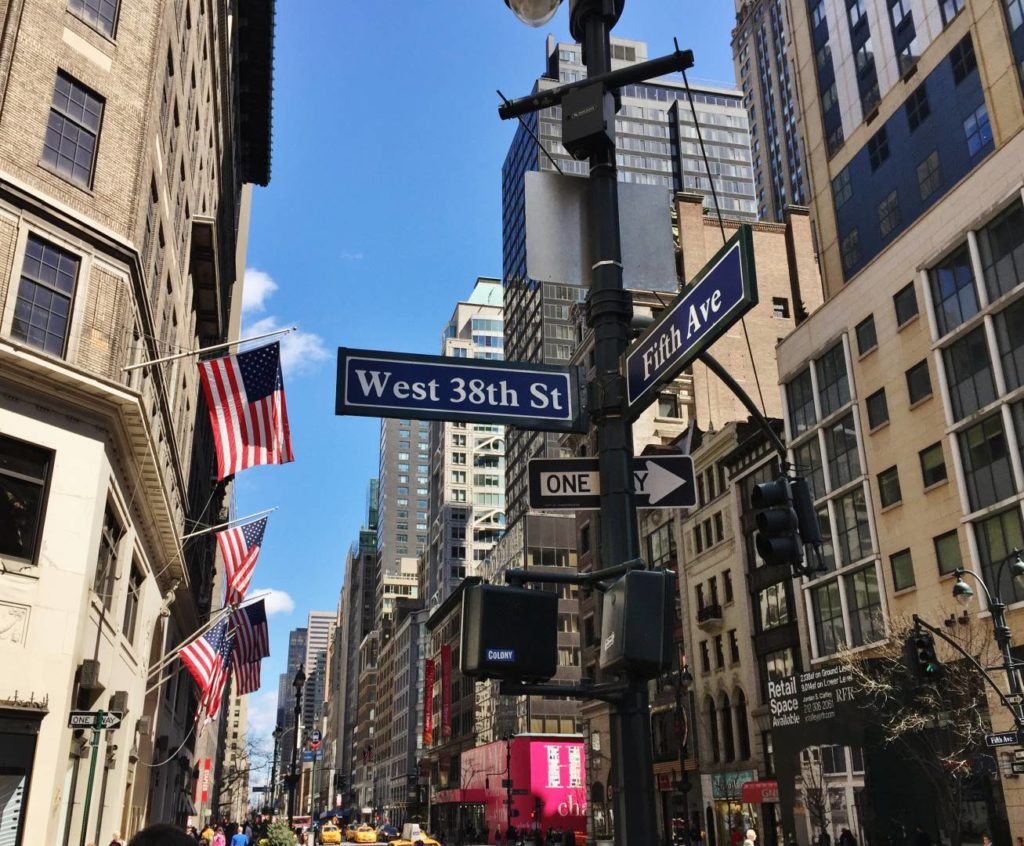 New York Guidebook, shoots along the 5th Ave