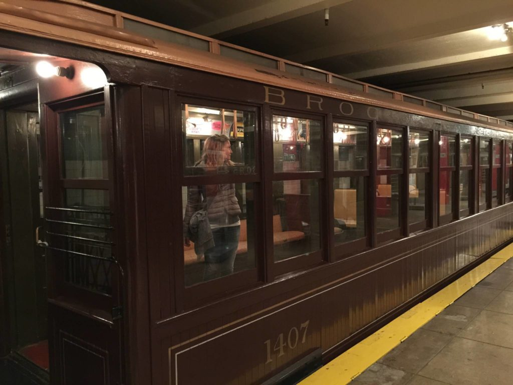 New York Transit Museum, in a car of the 1920s