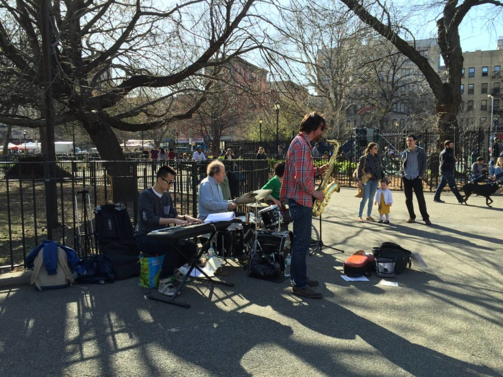 Free Music sessions in Tompkins Square Park