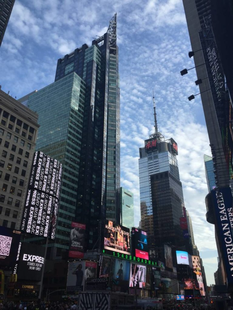 New York Guidebook, Times Square sky