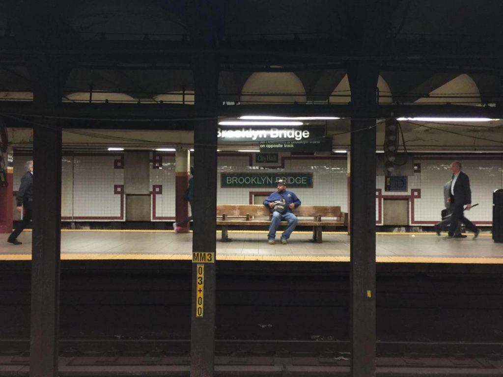 New York subway, moments
