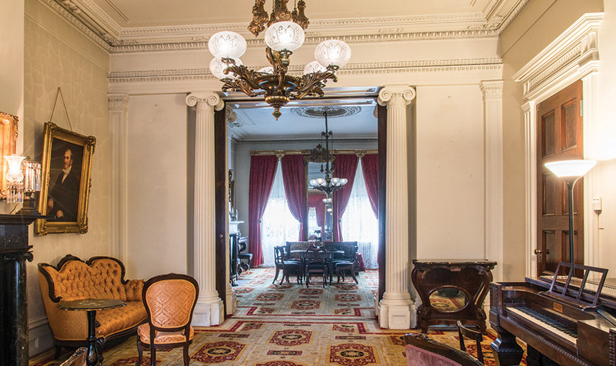 Secret New York: the state rooms at the second floor of the Merchant's House