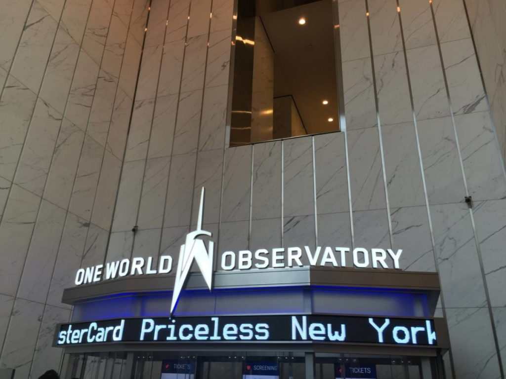 What to see in New York: One World Observatory, the entrance