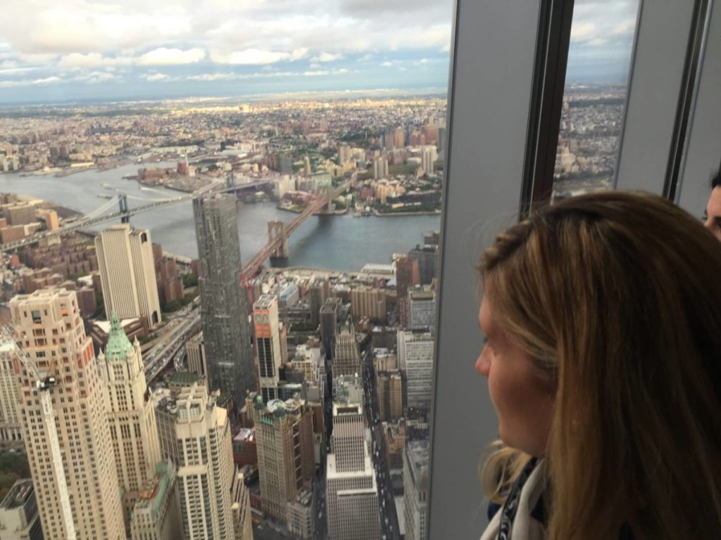 What to see in New York: One World Observatory, view of Manhattan and the Brooklyn Bridge