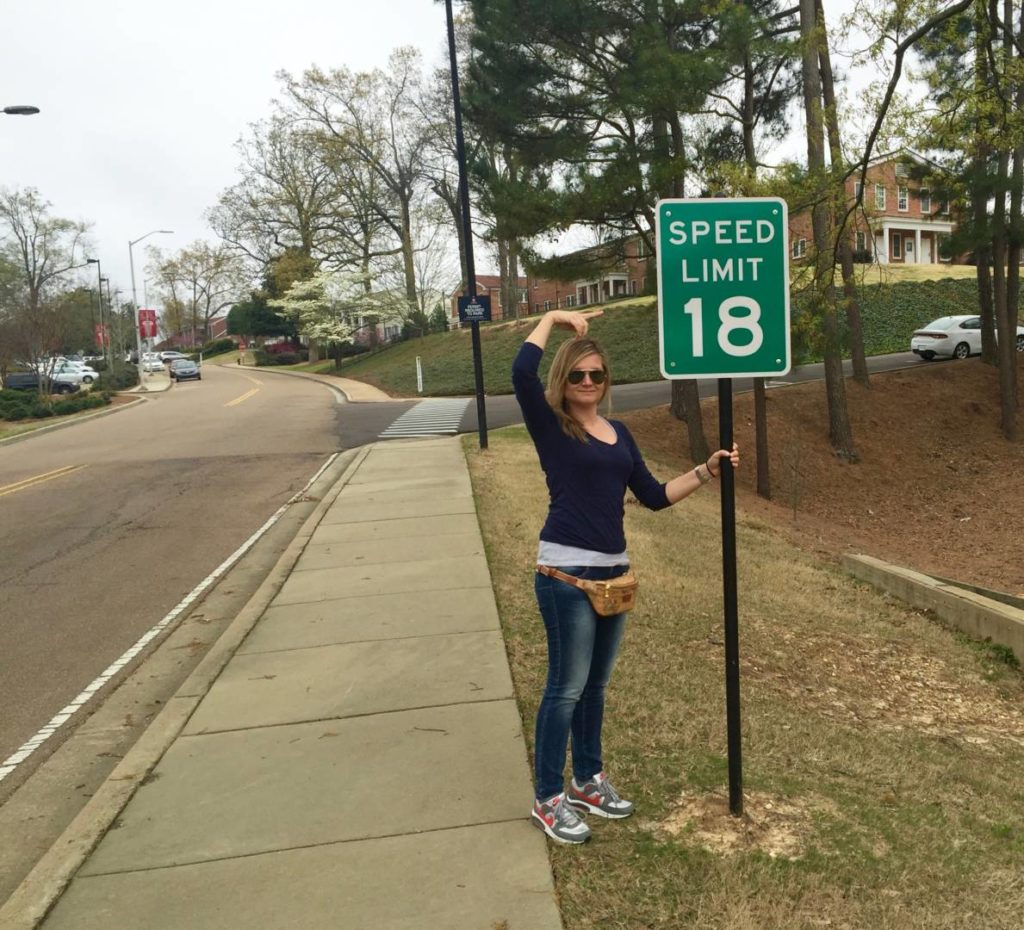 18miles speed limit in honor to the jersey number of the quarterback Archie Manning III