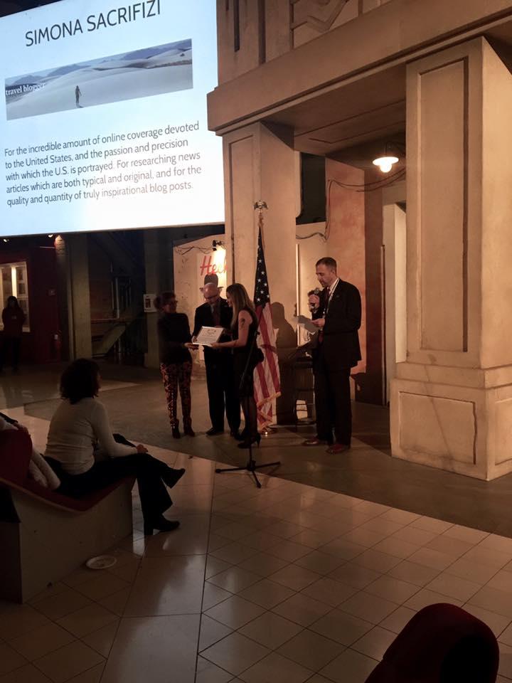 Showcase USA Italy 2016, la consegna del media Award dal Console Generale degli USA in Italia e dal super Presidente di Visit USA Italy
