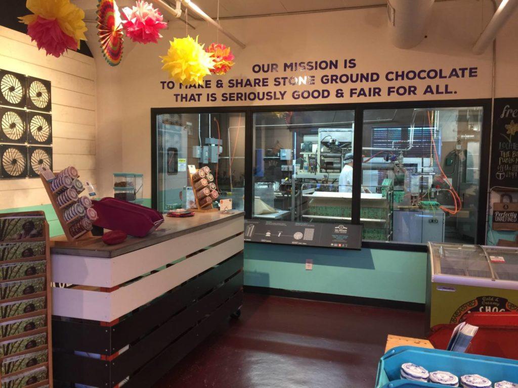 TAZA Chocolate Factory, inside